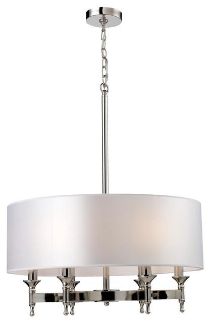 Elk Lighting 10162/6  101626 Pembroke 6-Light Chandelier In Polished Nickel