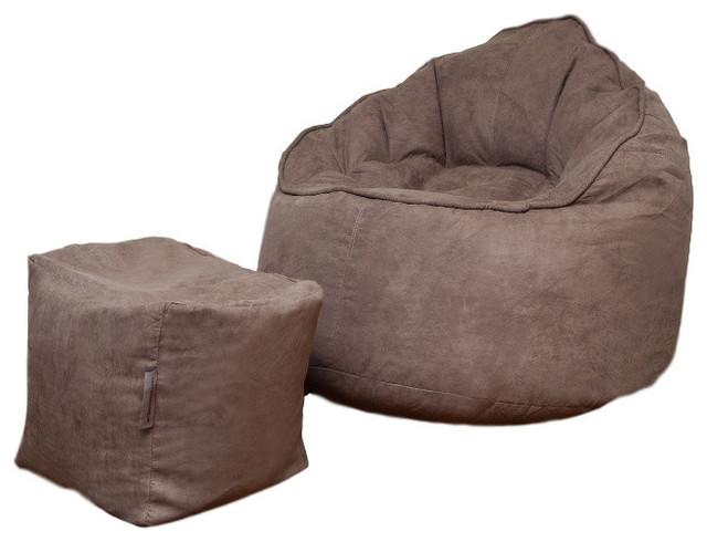 Peachy The Giant Pod Set Bean Bag Chair Gray Machost Co Dining Chair Design Ideas Machostcouk