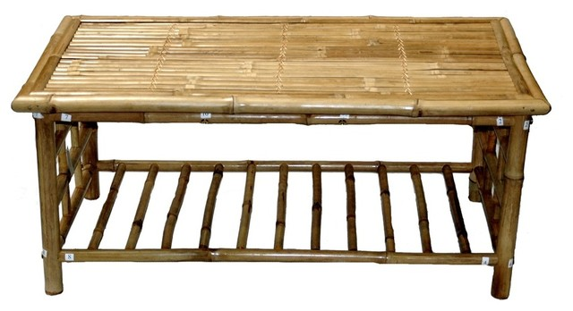 42 In Bamboo Folding Coffee Table With Magazine Rack