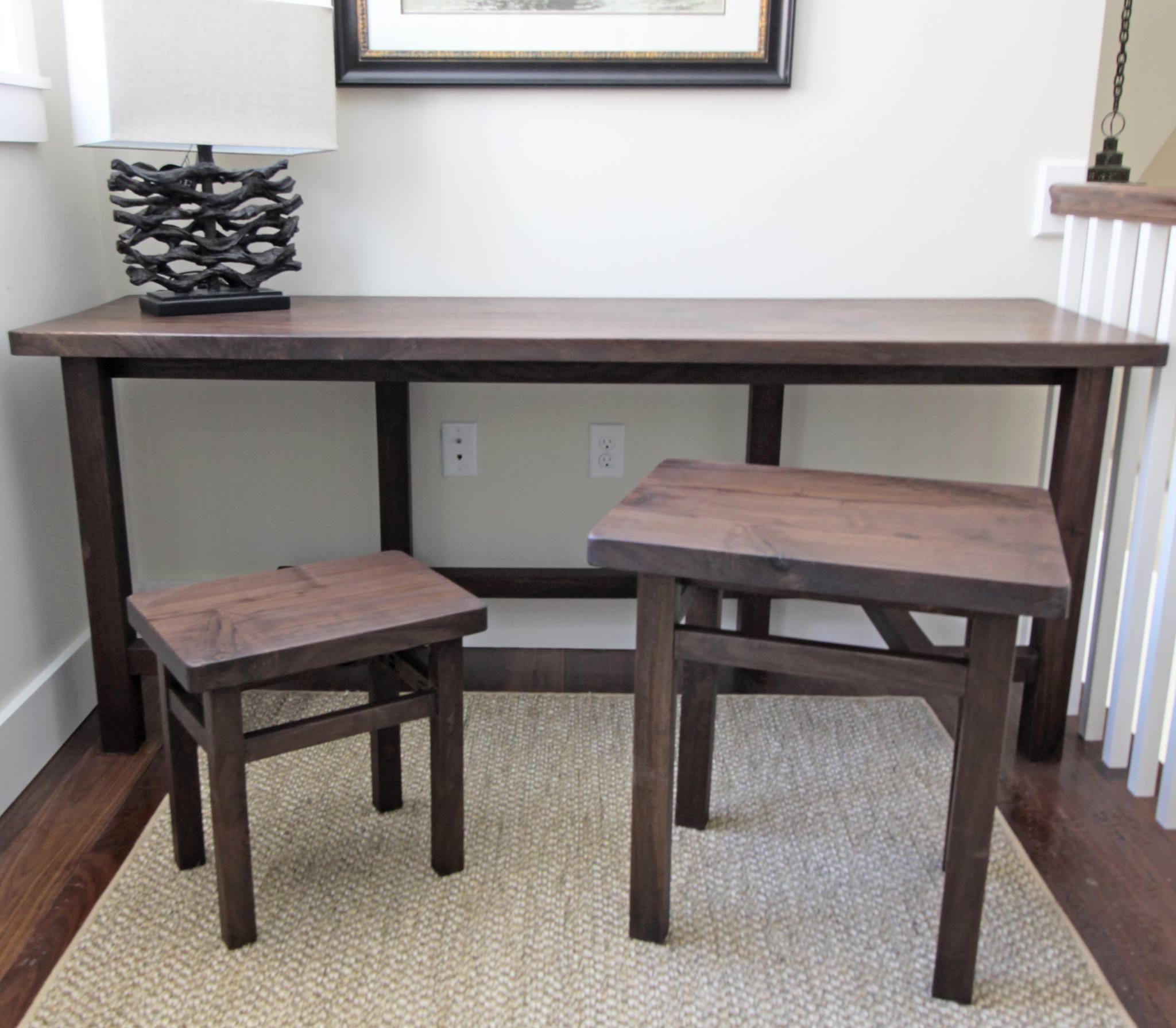 Antiqued Walnut Tables