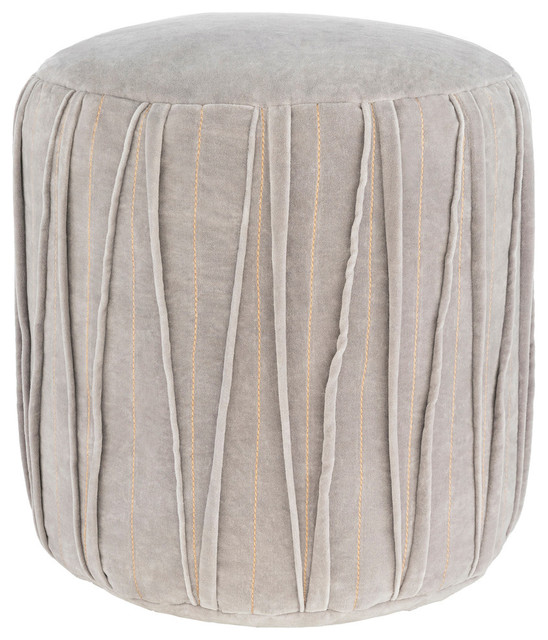Groovy Vela 16 Pouf Medium Gray Gmtry Best Dining Table And Chair Ideas Images Gmtryco