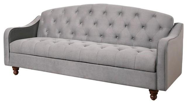 Abbyson Living Vera Storage Sleeper Sofa, Gray sleeper-sofas - Abbyson Living Vera Storage Sleeper Sofa, Gray - Sleeper Sofas