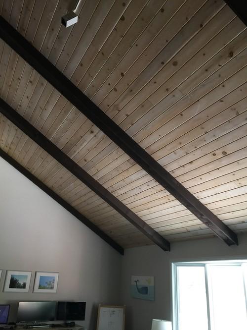 Paint Wood Ceiling Beams