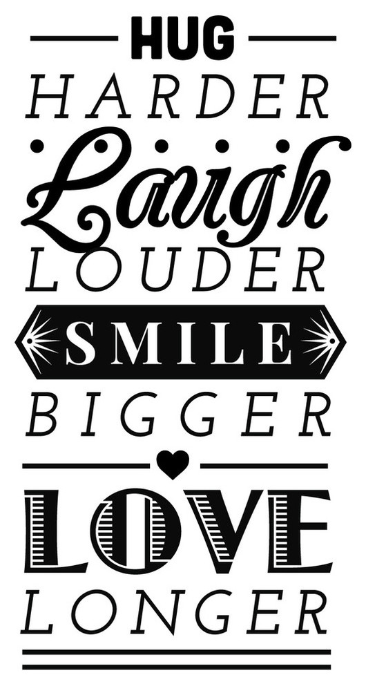 Hug Laugh Smile Love Quote Wall Decal