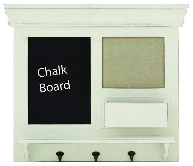 Wooden Chalkboard Wall Shelf