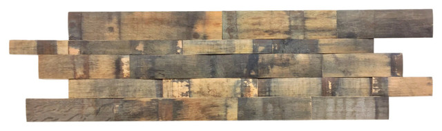 Beacon Hill Reclaimed Wood Wall Panels, Stave, 24 Sq. Ft.. -1