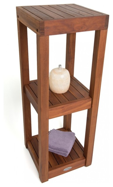 Aqua Teak - Spa Collection 3-Tier Teak Bath Stand & Reviews | Houzz