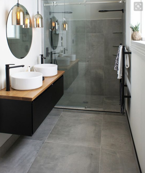 Using large format tiles on shower floor? Yes or no?