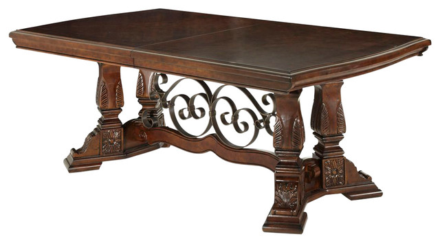 AICO Windsor Court Rectangular Dining Table, Vintage Fruitwood