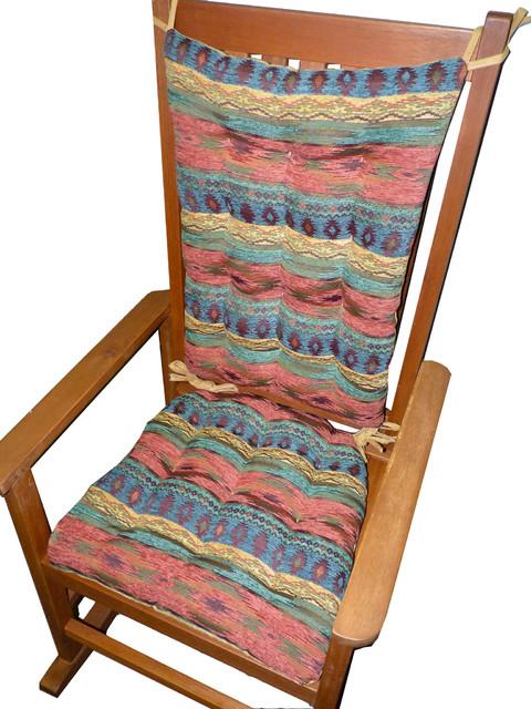 Admirable Southwest Phoenix Sunset Rocking Chair Cushions Latex Foam Fill Extra Large Uwap Interior Chair Design Uwaporg