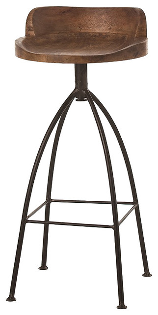 missoula industrial loft antique wood iron swivel bar stool stoolsand