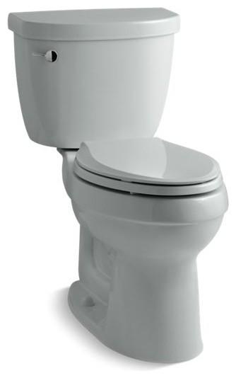 Kohler Cimarron 2-Piece Elongated 1.6 GPF Toilet w/ Left-Hand Lever, Ice Grey
