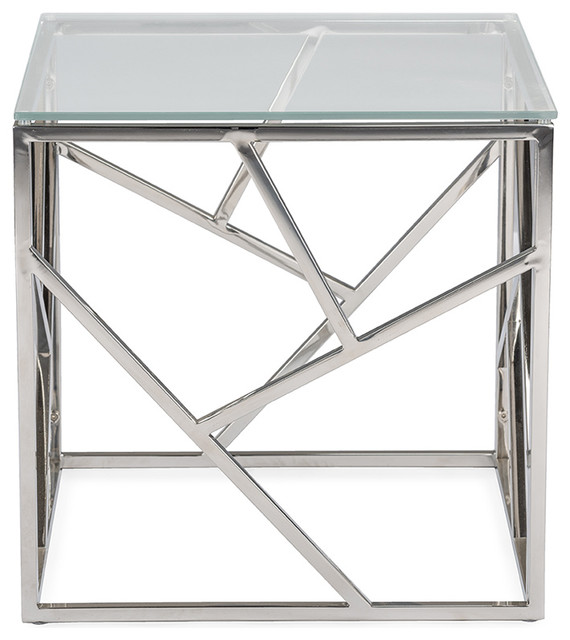 Fiona Modern And Contemporary Stainless Steel End Table