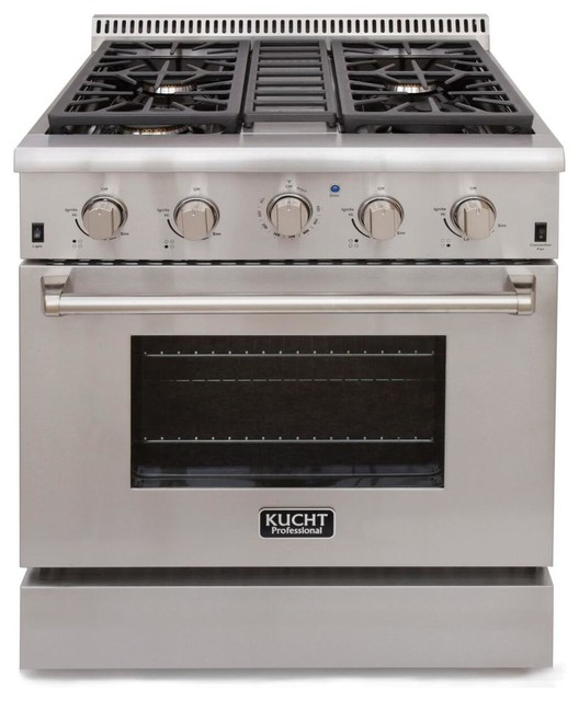 Kucht 30 Professional-Class Gas Range With 4.2 Cu. Ft. Convection Oven.