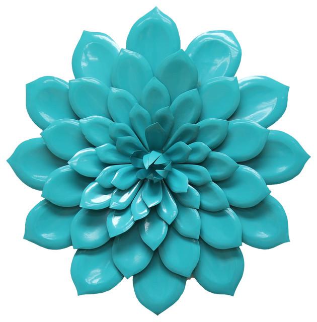 Stratton Home Decor - Stratton Home Decor Layered Blue Flower Wall ...
