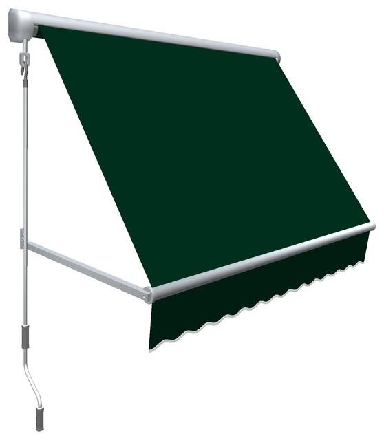 3' Mesa Window Retractable Awning, Forest Green