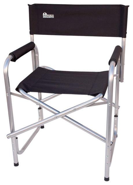 earth extra heavy duty short outdoor folding directors chair