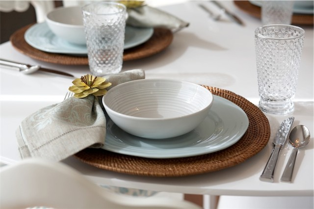 Contemporary Table Settings table setting - contemporary - vancouver  -oliver simon design