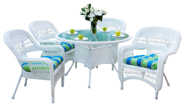 Beach Style Dining Sets: Portside 5-Piece Dining Set, Amber, Haliwell Caribbean