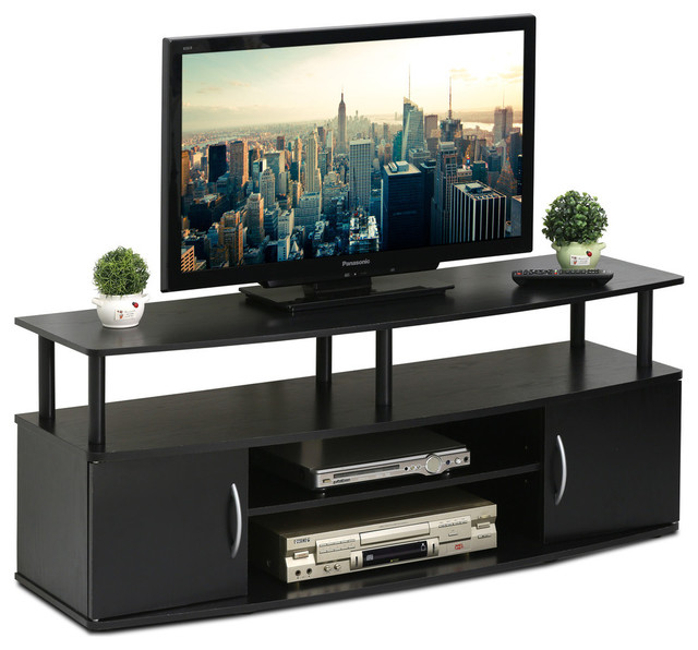 Furinno JAYA Large Entertainment Center Hold Up To 50-IN