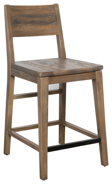 Boone Reclaimed Wood Counter Stool