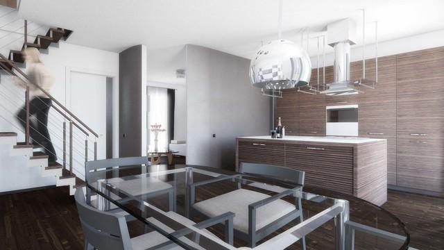 Progettazione Dinterni Fai Da Te : Progettazione d interni abitazione su due piani moderno