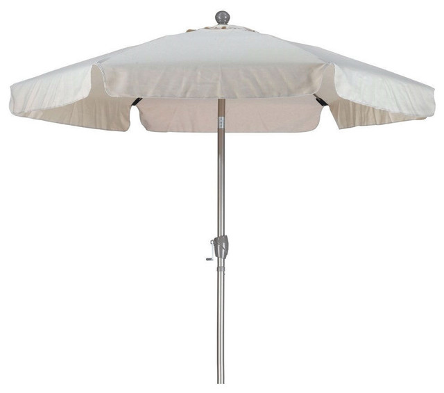 off white patio umbrella with push button tilt outdoor umbrellas