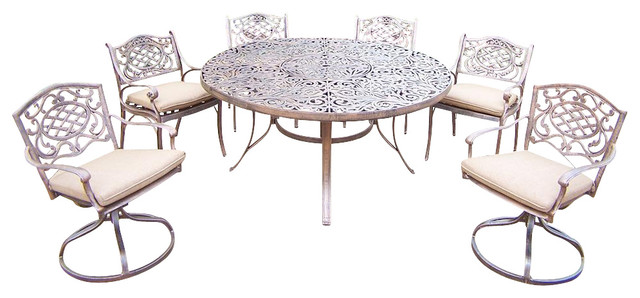 pc outdoor round dining set contemporary patio furniture and outdoor