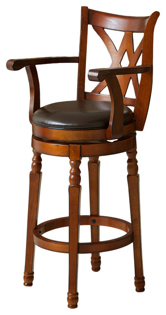 Fantastic Gdf Studio Montreal Cherry Finish Swivel Bar Stool Caraccident5 Cool Chair Designs And Ideas Caraccident5Info