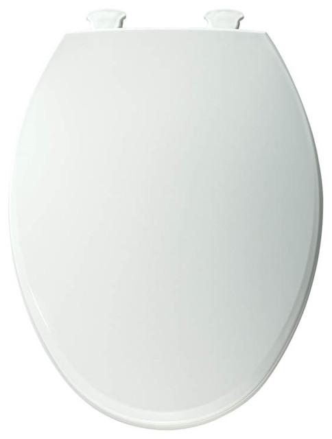 Bemis 1800EC 000 Lift Off Plastic Elongated Toilet Seat Contemporary Toil