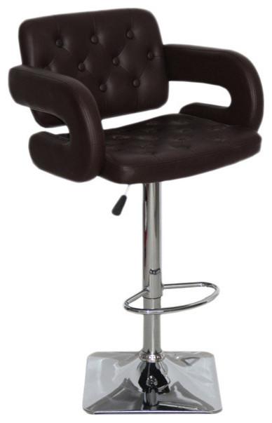 Stupendous Olivia Adjustable Swivel Bar Stool Chocolate Bralicious Painted Fabric Chair Ideas Braliciousco