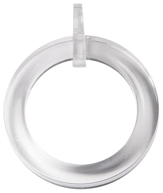 Clear Plastic Curtain Rings, Set Of 20.