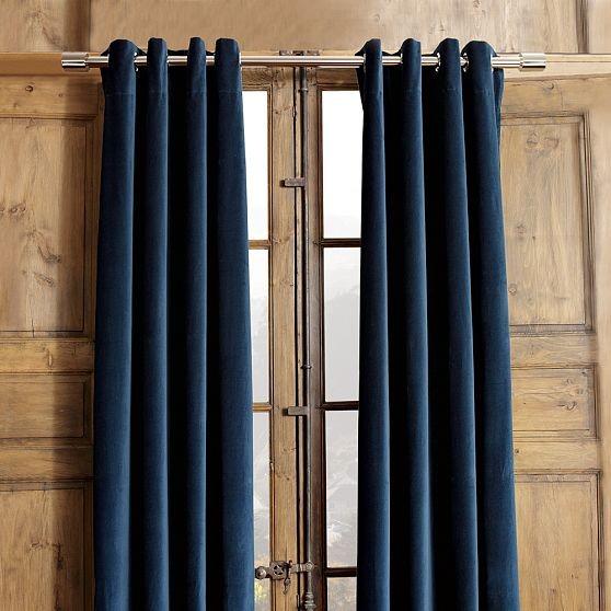 Velvet Grommet Window Panel Modern Curtains By West Elm