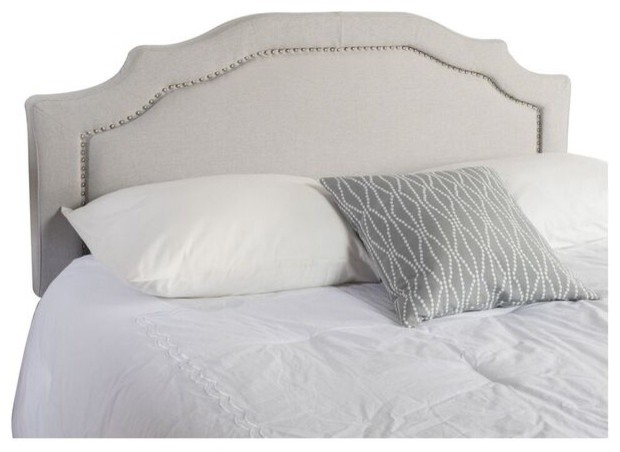 Broswell Light Gray Fabric Queen/full Headboard.