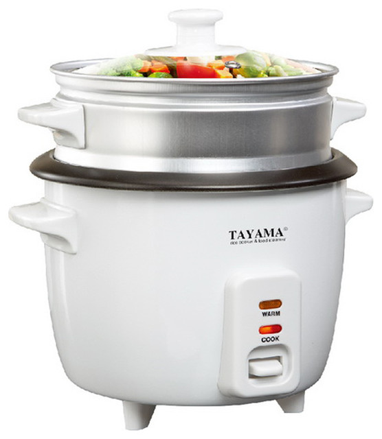 Kitchen Living Food Steamer: Tayama Rice Cooker With Steam Tray, 3-Cup