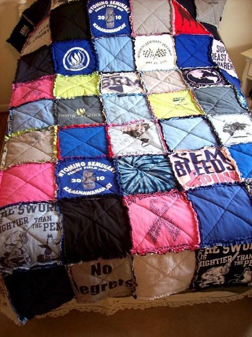 T-Shirt Quilt Rag Style : tshirt rag quilt - Adamdwight.com