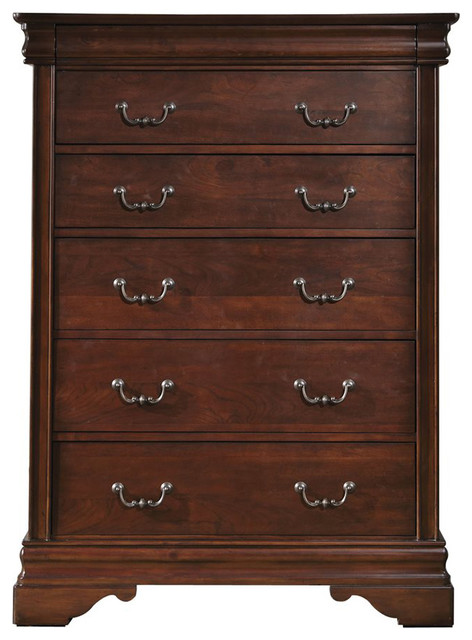Liberty Furniture Carriage Court 6 Drawer Chest, Mahogany.
