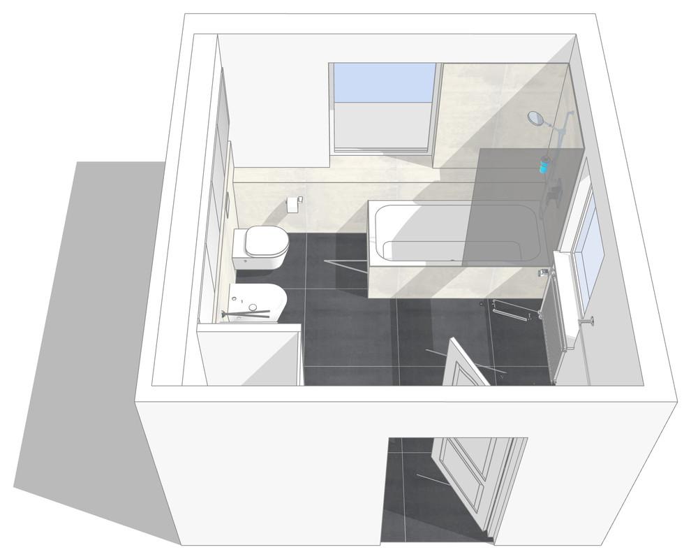 Neuplanung eines Wannenbades Finaler Entwurf Bild II