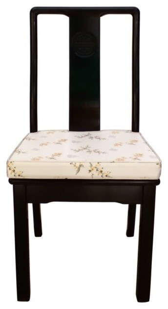 38 Solid Rosewood Oriental Side Chair, Asian Inspired Dining Chairs