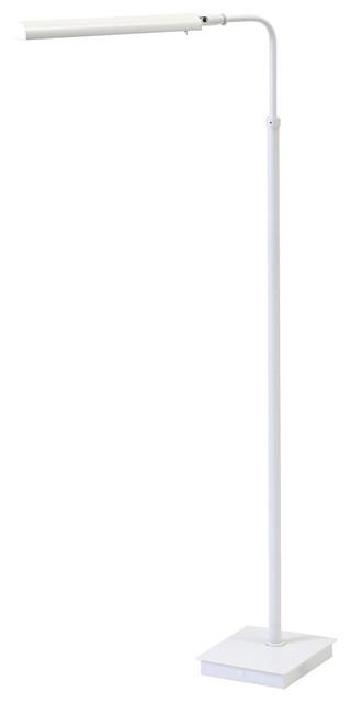House Of Troy G300 Generation 1 Light Led Pharmacy Floor Lamp, White.