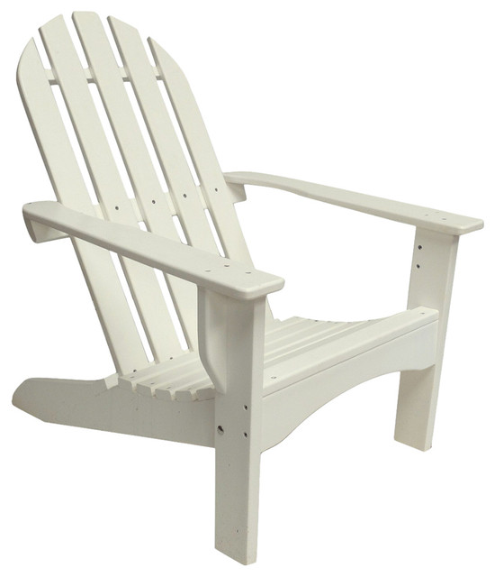 Poly Adirondack Chair Casual Design, White