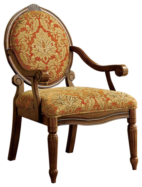Hammond Traditional Hammond Accent Chair, Antique Oak Finish - Victorian -  Armchairs And Accent Chairs - by BuyDBest - Hammond Traditional Hammond Accent Chair, Antique Oak Finish