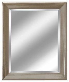 Brushed Nickel Bathroom Mirror. Head West  Inc Transitional Brushed Nickel Mirror 27 5 x33 Mirrors Houzz