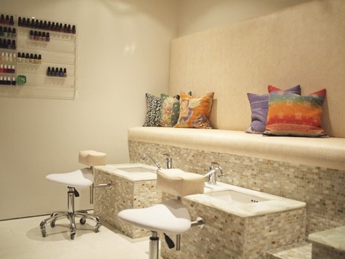 design ideas for a nail bar and beauty salon