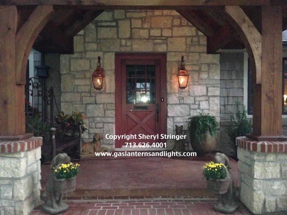 Front Door Gas Lanterns by Sheryl Stringer