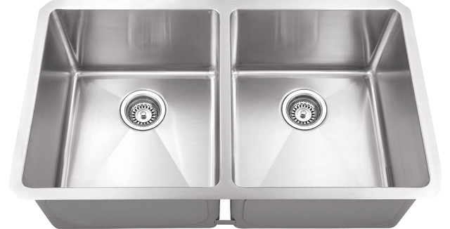 Hahn Chef Series Handmade Equal Double Bowl Contemporary Kitchen Sinks By Your Sink Warehouse Lp Houzz