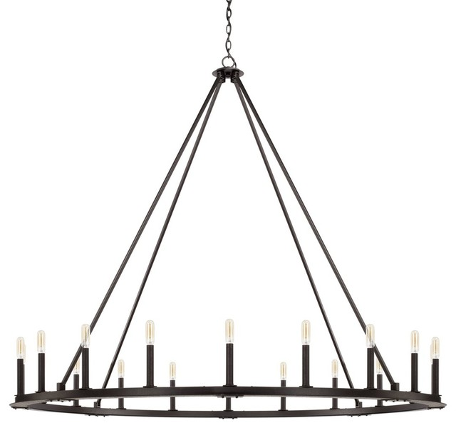 Capital Lighting Pearson 20-Light Chandelier 4913BI, Black Iron