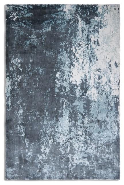 Impressions Rectangular Funky Rug, Grey Blue, 150x230 cm