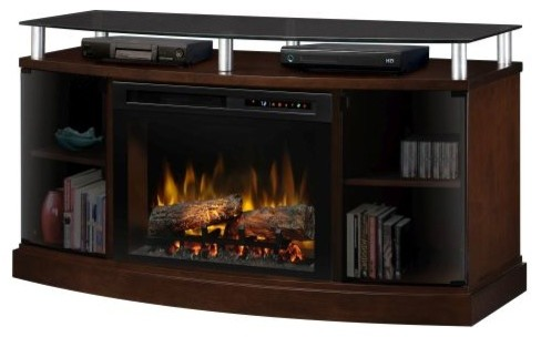 Windham Media Console With 25 Logs Config. Xhd Firebox, Mocha.