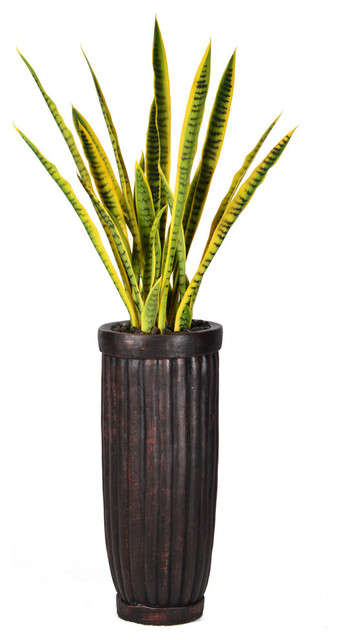 56 Tall Snake Plant Artificial Indoor Outdoor Faux In Planter